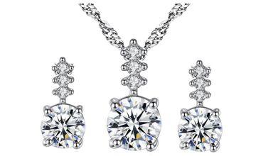 2-Piece Cubic Zirconia Jewellery Set