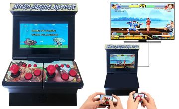 2-Player Retro Arcade Game Console with Wireless Controllers + 300 Games!