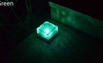 Solar Power Ice Rock Lights in 6 Colours - 1, 2 or 4