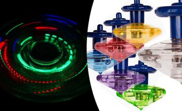 6-Piece Set of Flashing LED Spinning Tops