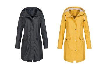 Waterproof Long Raincoat - 5 Colours & 6 Sizes