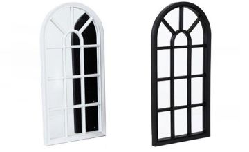 Arched Mirrored Window Frame - 2 Colours