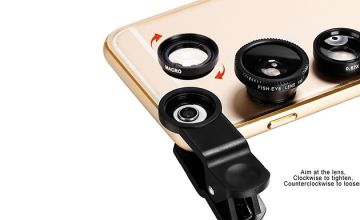 3-in-1 Smartphone Camera Lens Kit - Fish Eye, Macro and Wide Angle