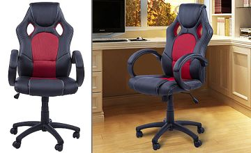 PU Leather Racing Car Gaming Chair - 4 Colours