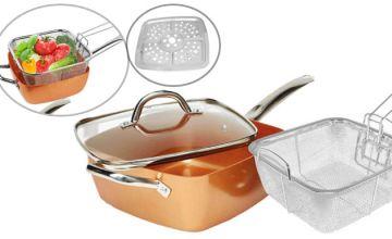 4-in-1 Multi-Purpose Non-Stick Copper Pan