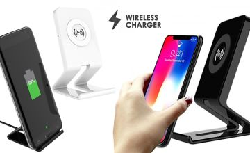 Wireless Smartphone Charging Stand - iOS & Android Compatible