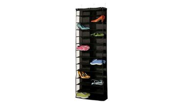 Over the Door Space Saving Fabric Shoe Rack - 2 Colours