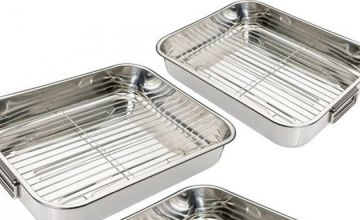 4-Piece Stainless Steel Roasting Tray Set
