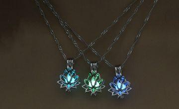 Luminous Lotus Flower Necklace - 3 Colours
