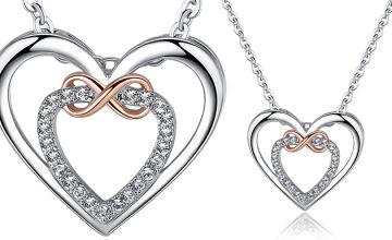 Swarovski Elements 'Infinity' Heart Necklace