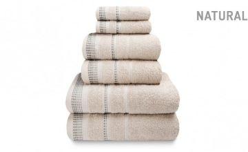 6-Piece Soft & Fluffy 100% Cotton Berkley Towel Bale - 3 Colours