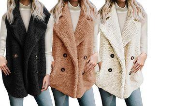 Faux Fur Sleeveless Winter Jacket - 4 Colours & 4 Sizes