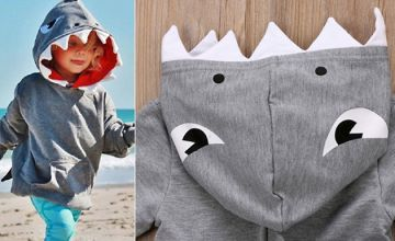 Kids Baby Shark Hoodie - Ages 2 to 7