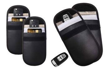 2 x RFID Car Keys and Credit Card Signal Blockers