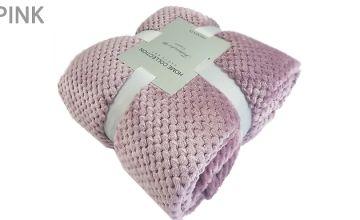 Soft Fleece Throw Blanket - 7 Colours & 7 Sizes