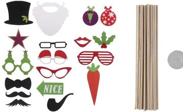 28-Piece Christmas Photo Booth Props Set