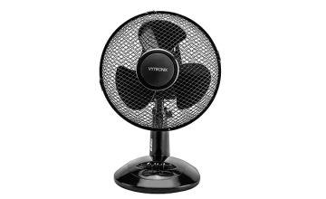 Vytronix DF9 Oscillating 9 Inch 20W Desk Fan