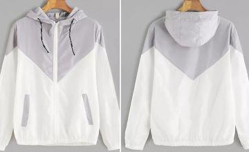Women's Dual Colour Hooded Raincoat - 6 Colours