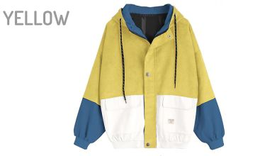 Corduroy Vintage-Style Hooded Jacket - 5 Colours & 4 Sizes