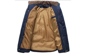 Mens' Contrast Shoulder Padded Jacket - 5 Sizes