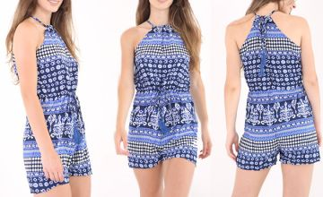 Printed Summer Playsuit - 2 Colours