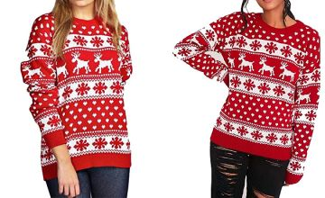 Women's Christmas Reindeer Jumper - 3 Colours