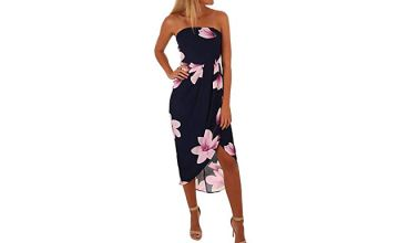 Floral Bustier Crossover Dress - 2 Colours & 5 Sizes
