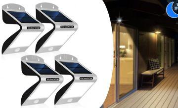 Solar Sensor Wall Lights - 2 or 4