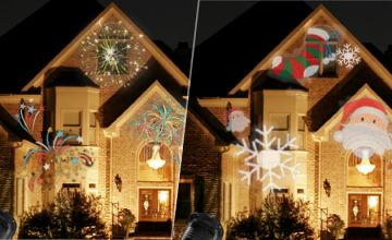 New Years LED Laser Projecting Light - 5 Slides!