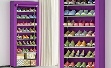 9-Tier Shoe Organiser with Dust Cover - 2 Colours