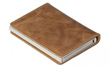 Anti-Scan Card Holder Faux-Leather Wallet - 3 Colours