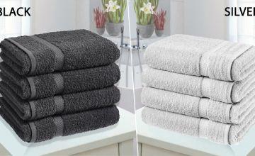 4 x Jumbo Egyptian Cotton Bath Towels - 14 Colours