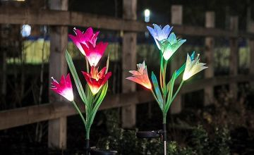 Solar Lily Flower Lights