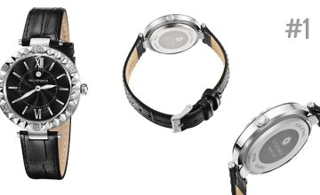 Reichenbach Leather Watch With Crystals - 5 Designs