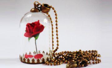 Beauty Red Rose Locket