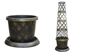 1 or 2 Trellis Tower Pots