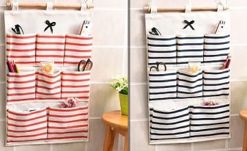 6 or 8 Pocket Hanging Wall Organiser - 2 Colours