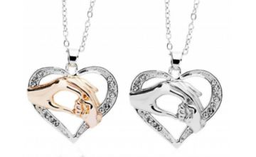 Mother & Baby Heart Necklace - 2 Colours
