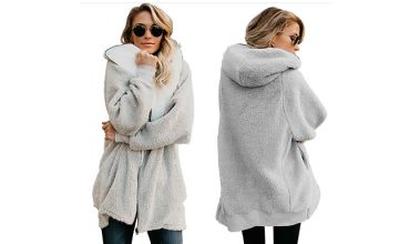 Women's Hooded Fleece Coat - 4 Colours & 8 Sizes