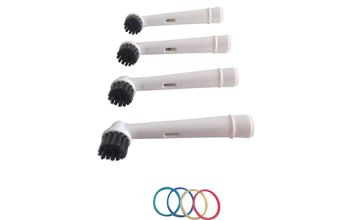Charcoal Infused Oral B-Compatible Toothbrush Heads - 4, 8, 12, 16, 20 or 24 Pack