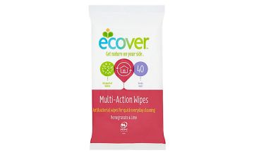 Ecover Multi-Action Pomegranate & Lime Wipes - Pack of 40