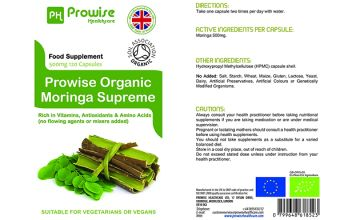 2 Month Supply of Prowise Moringa Oleifera Tablets - 120 Capsules