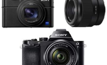Up to 50% off Sony cameras, lenses and camcorders