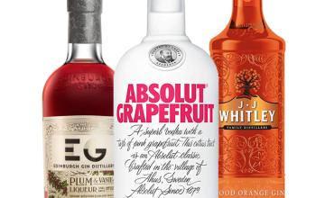 25% off Absolut Vodka, Edinburgh Gin, JJ Whitley and more