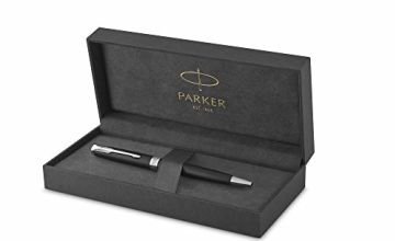 Save on Parker Sonnet Ballpoint Pen | Black Lacquer with Palladium Trim | Medium Point Black Ink | Gift Box and more