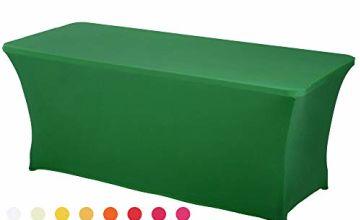 HAORUI Spandex Stretch Lycra Table Cover Cloth Rectangular F