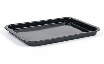Russell Hobbs CW11471 Romano Vitreous Enamel Baking Tray, 36 cm, Black