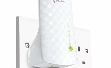 TP-LINK RE220 AC750 Universal Dual Band Range Extender, Broadband/Wi-Fi Extender, Wi-Fi Booster/Hotspot with Ethernet Port, Plug and Play, Smart Signal Indicator, UK Plug