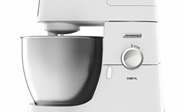 Kenwood Chef XL Stand Mixer for Baking, Stylish Food Mixer with K-beater, Dough Hook, Whisk and 6.7 Litre Bowl, 1200 W, KVL4100W, White