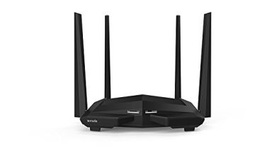 Tenda AC10U AC1200 Dual Band Gigabit Wireless Cable Router, a USB 2.0 Port, MU-MIMO, 4 Gigabit LAN Ports, 867Mbps/5 GHz+ 300Mbps /2.4GHz, Support VPN Server, WiFi Schedule, Power-saving